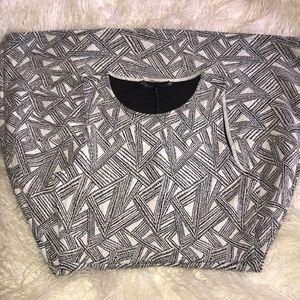 bcbg stretch knit empire waist knee length dress.